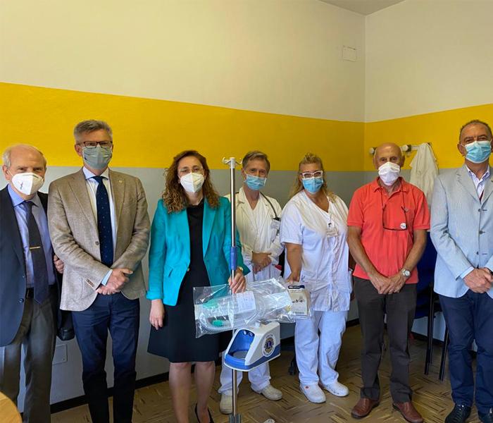 18 Giugno 2020 – Consegnata la donazione di 3 umidificatori  all'Ospedale Ramazzini di Carpi